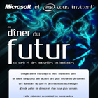 Mailing d'invitation au diner du futur, Photoshop