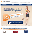 Mail promotionnel Zalando, Photoshop